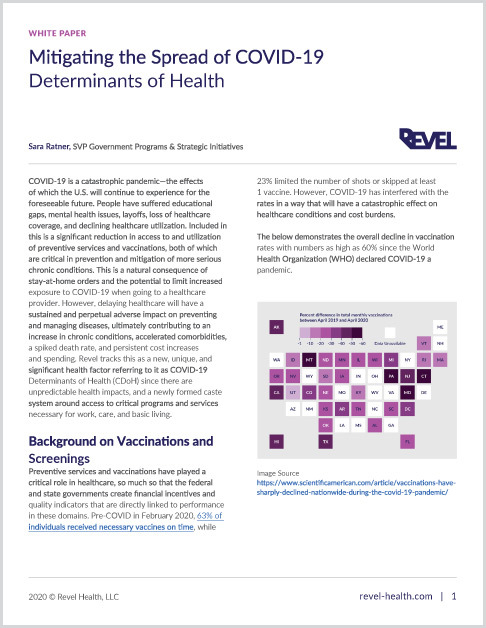 White Paper - Mitigating COVID-19 Determinants of Health